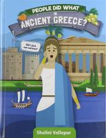 People Did What in Ancient Greece?