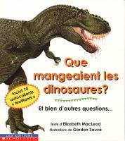 Que mangeaient les dinosaures?
