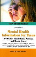 Mental Health Information for Teens