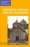 Armenian-English English-Armenian dictionary