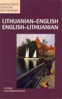 Lithuanian-English, English-Lithuanian