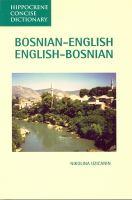 Bosnian-English, English-Bosnian Dictionary