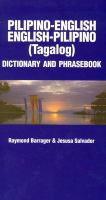 Pilipino-English/English-Pilipino Phrasebook and Dictionary