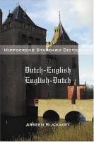 Dutch-English, English-Dutch