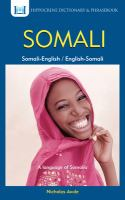 English Somali, Somali English Dictionary and Phrasebook