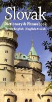 Slovak-English, English-Slovak Dictionary and Phrasebook