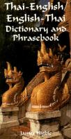 Thai-English, English-Thai Dictionary and Phrasebook
