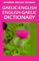 Gaelic-English, English-Gaelic Dictionary