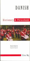 Danish-English, English-Danish Dictionary & Phrasebook