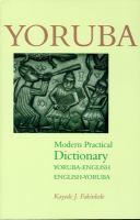 English-Yoruba, Yoruba-English Modern Practical Dictionary