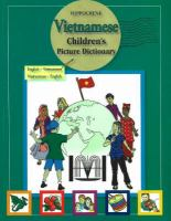 Vietnamese Children's Picture Dictionary