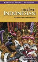 Modern Indonesian-English English-Indonesian Practical Dictionary