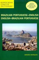Brazilian Portuguese-English, English-Brazilian Portuguese Concise Dictionary