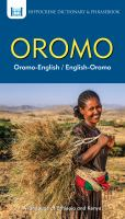 Oromo-English/English-Oromo Dictionary & Phrasebook