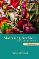 Mastering Arabic 1 with online audio