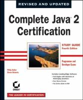 Complete Java 2 Certification Study Guide Study Guide [sic]