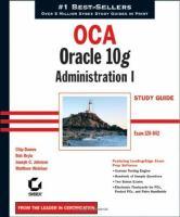 OCA,  Oracle 10g Administration I
