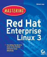 Mastering Red Hat Enterprise Linux 3
