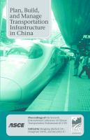 Plan, Build, and Manage Transportation Infrastructure in China