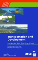 Transportation and Development Innovative Best Practices 2008