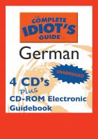 Complete Idiot's Guide to German