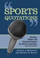 Sports Quotations