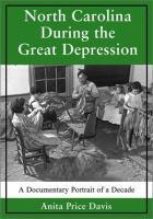 North Carolina During the Great Depression