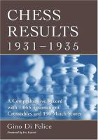 Chess Results, 1931-1935
