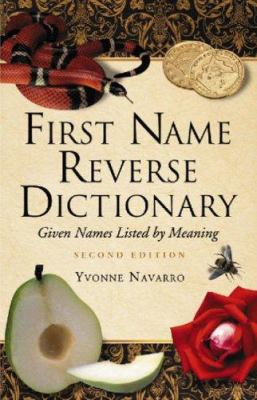 first name reverse dictionary cover