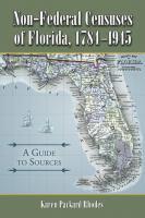 Non-federal Censuses of Florida, 1784-1945
