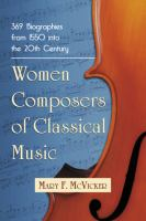 Women Composers of Classical Music
