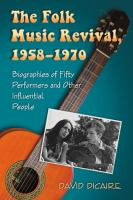 The Folk Music Revival, 1958-1970