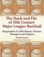 The Rank and File of 19th Century Major League Baseball
