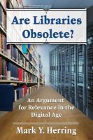 Are Libraries Obsolete?