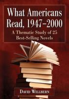 The American Popular Novel After World War II