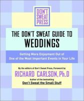 The Don't Sweat Guide for Weddings