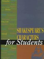 Shakespeare's Characters for Students