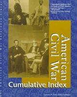 American Civil War Reference Library Cumulative Index