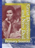 Great Depression and New Deal Primary Sources