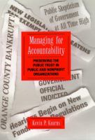 Managing for Accountability