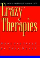 """Crazy"" Therapies"