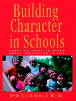 Building Character in Schools