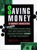 Saving Money in Nonprofit Organizations