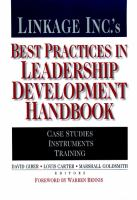 Linkage Inc.'s Best Practices in Leadership Development Handbook