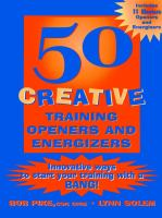 50 Creative Training Openers & Energizers