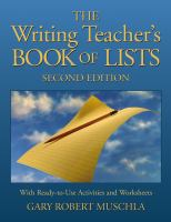 The Writing Teacher's Book of Lists
