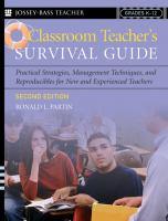 Classroom Teacher's Survival Guide