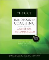 The CCL Handbook Of Coaching