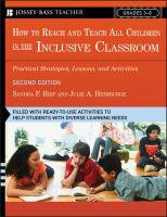 How to Reach and Teach All Children in the Inclusive Classroom