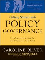 Getting Started With Policy Governance